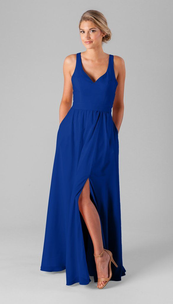 Kennedy Blue Riley in Royal | V-Neck Bridesmaid Dress