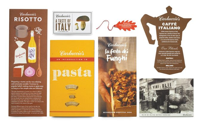 Italian galore: Graphic Design, Design Inspiration, Food Prints, Color, Print Design, Print Irving, Carluccios Print, Food Market, Carluccio S Print