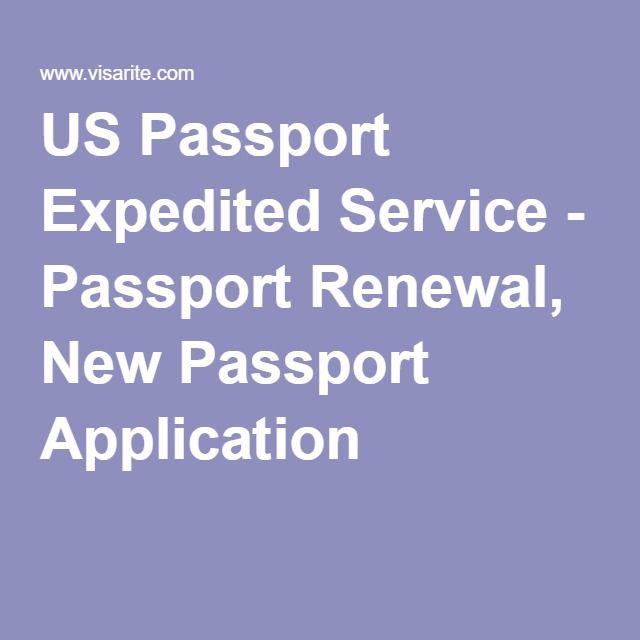 US Passport Expedited Service - Passport Renewal, New Passport Application