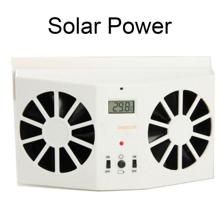Fresh W Solar Sun Power Car Auto Air Vent Cool Fan Portable Cooler Ventilation System Radiato with