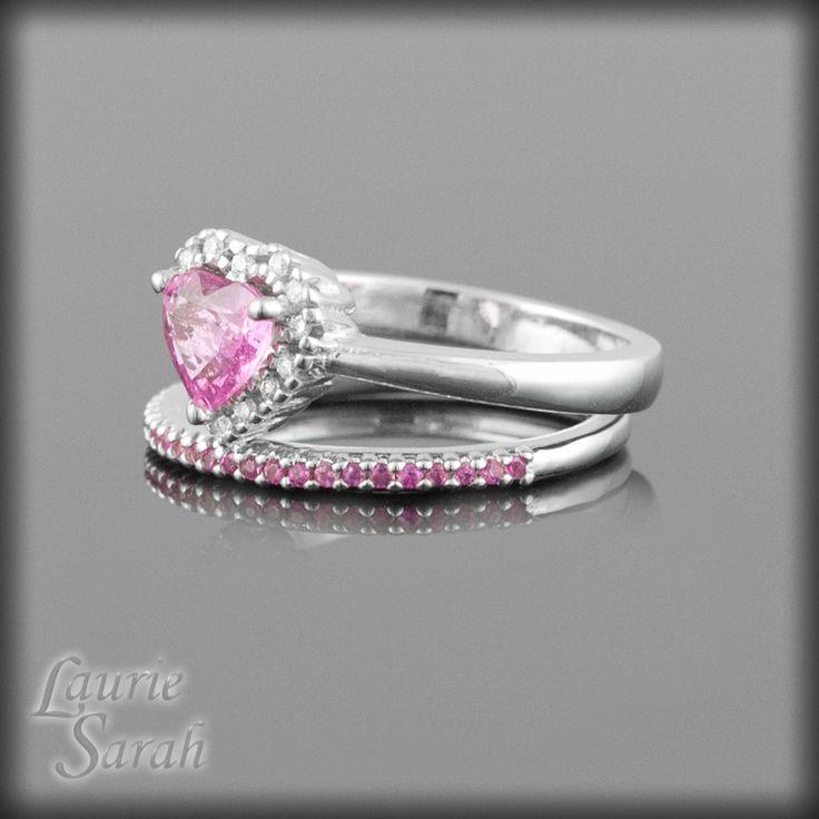 Pink Diamond Wedding Set