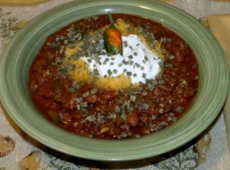 Cinfully Good Chili Recipe- From Lufkin, Tx