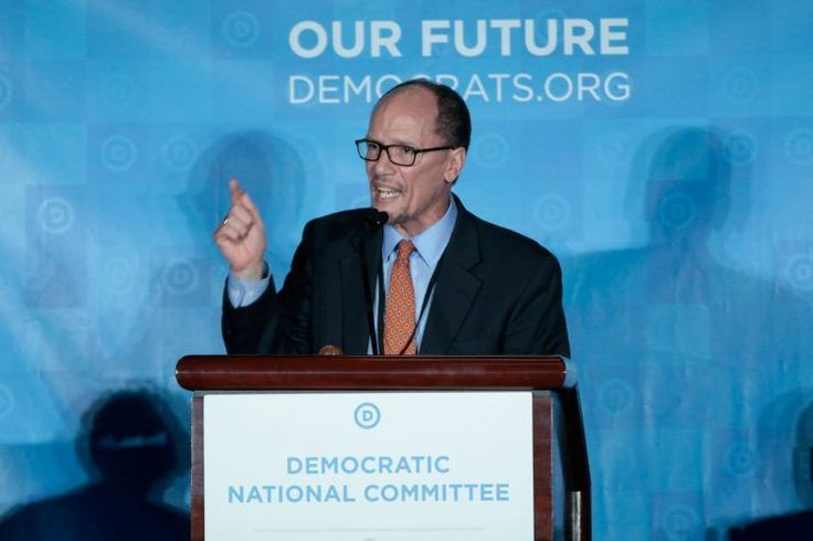 Tom Perez was elected the next chair of the Democratic National Committee on Saturday afternoon, putting an end to a contentious four-month election that divided the battered party's liberal and centrist wings along similar lines as last year's presidential primary race.
