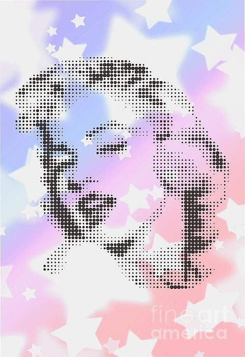 MARILYN ON WHITE STARS