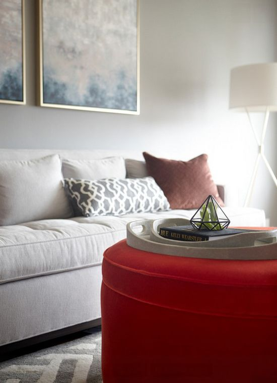 TREND: Ottomans As Coffee Tables