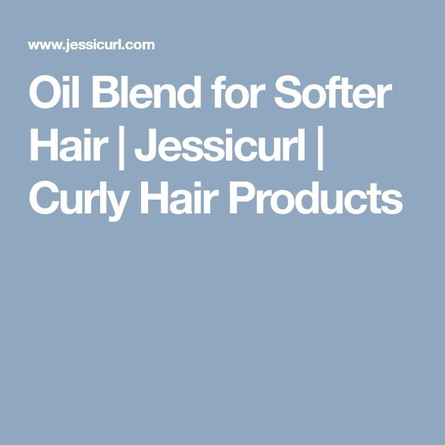 Oil Blend for Softer Hair | Jessicurl | Curly Hair Products