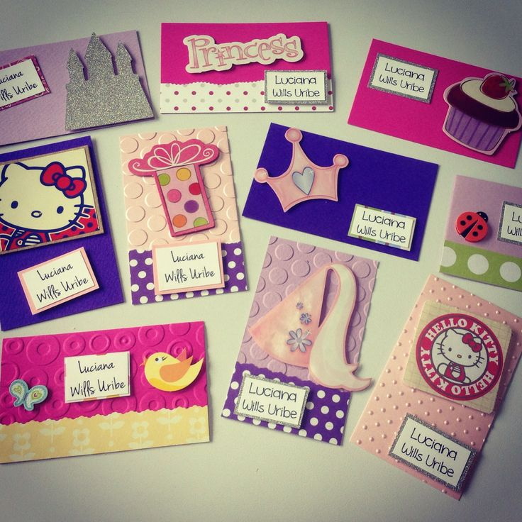 Tarjetas personales infantiles scrapbook mis dise os y for Disenos para tarjetas