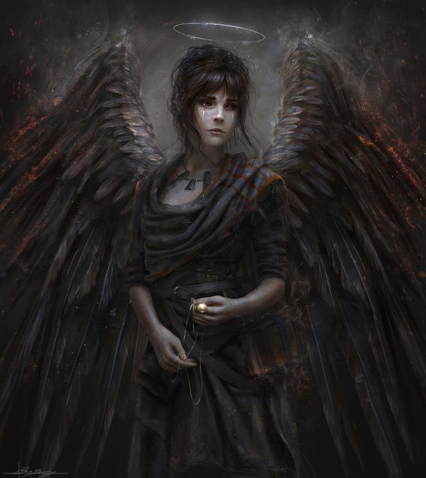 Fallen арт, ангел, падший