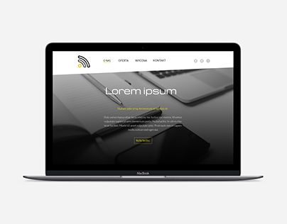Web design - black and yellow