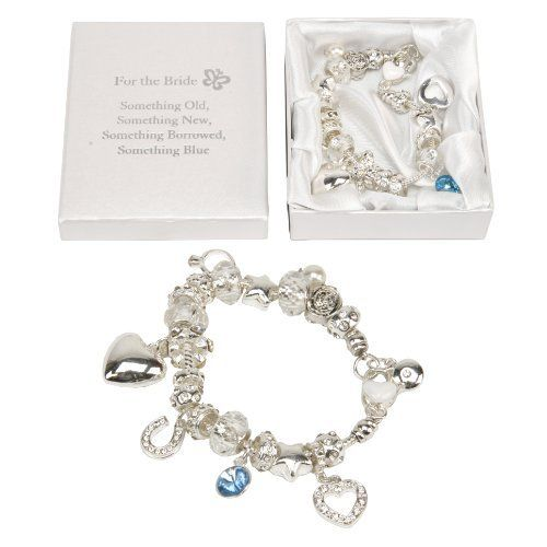 Amore Charm Bracelet Bride Something Old, New, Borrowed, Blue  Price : £8.99 http://www.bronzebarngallery.com/Amore-Charm-Bracelet-Something-Borrowed/dp/B0098GIXNS