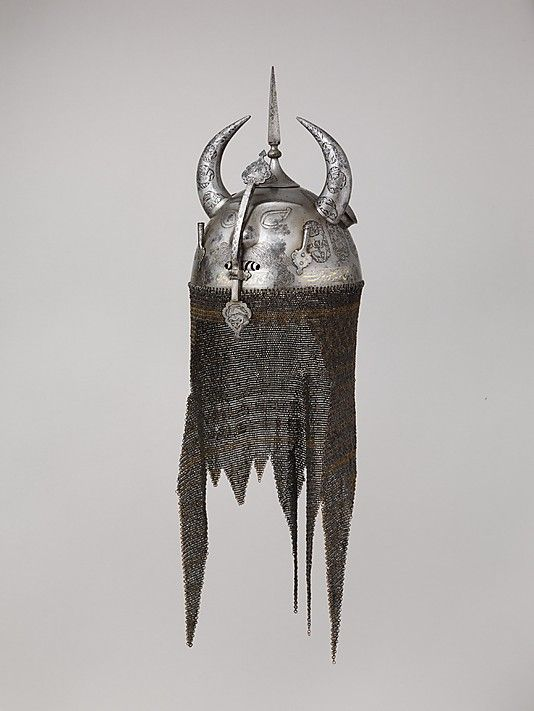 HELMET    Date:      about 1700  Culture:      North Indian  Medium:      steel, copper alloy