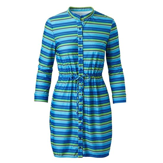 The UV Skinz Women's Shirtdress Cover-Up is effortlessly chic.  Throw on over a swimsuit or wear for a casual day out.