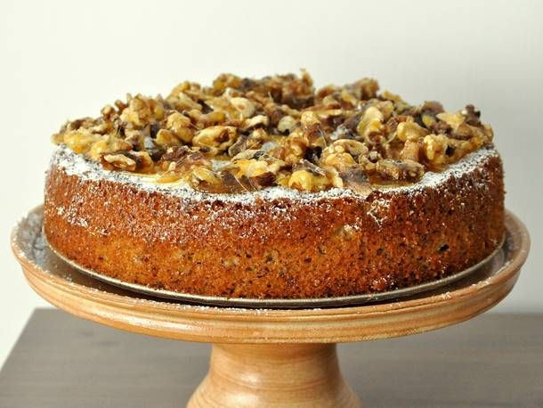 Orange Olive Oil Cake With Candied Walnuts