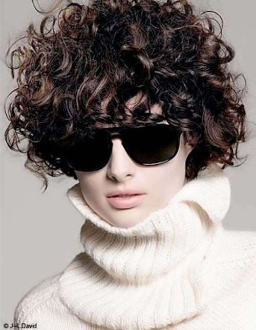 8 Hairstyles for Short Curly Hair : If you have long hair, your looking at those sexy short hair styles.