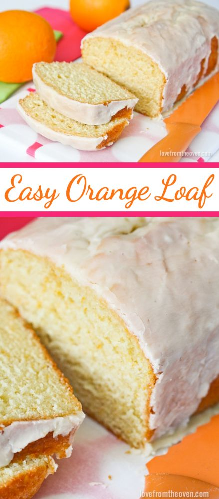Easy Orange Loaf Recipe.  This orange bread is amazing, moist, delicious and the perfect amount of orange flavor.