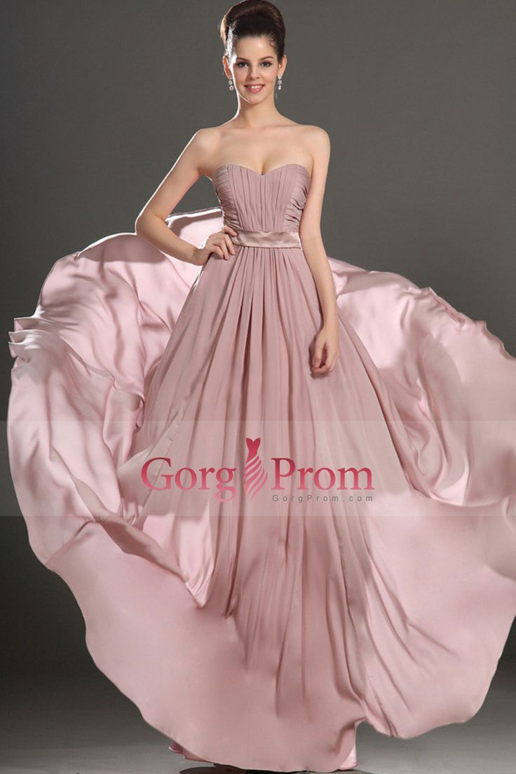2015 Passionate Sweetheart A Line Prom Dress Chiffon Floor Length With Ruffles