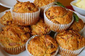 muffiny wytrawne z pomidoroami, serem i szynką 05