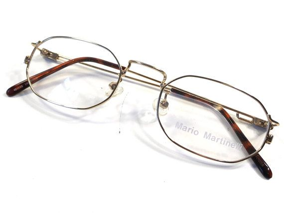 vintage 90s deadstock gold frames oval by RecycleBuyVintage