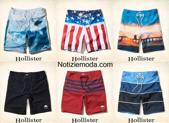 Moda mare Hollister estate 2015 costumi da bagno shorts uomo