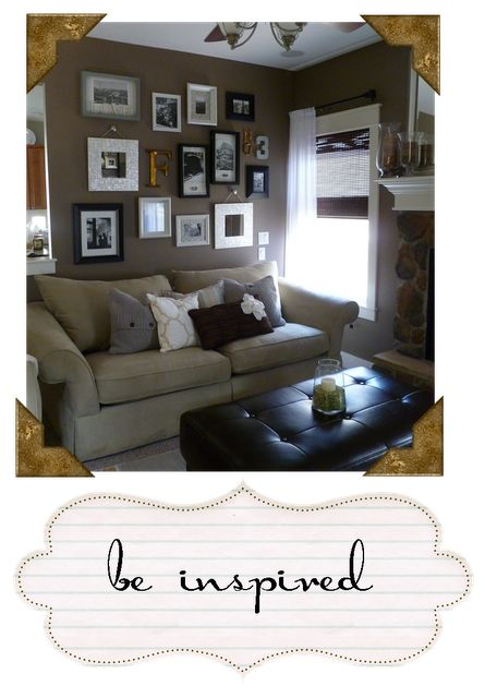 Gallery wall.Living Room, Gallery Wall, Pottery Barn