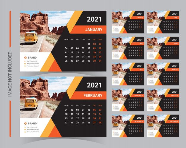 Calendario De Escritorio 2021 Vector Pre Premium Vector Freepik Vector Calendario Calendar Design Desk Calendars Calendar Design Template