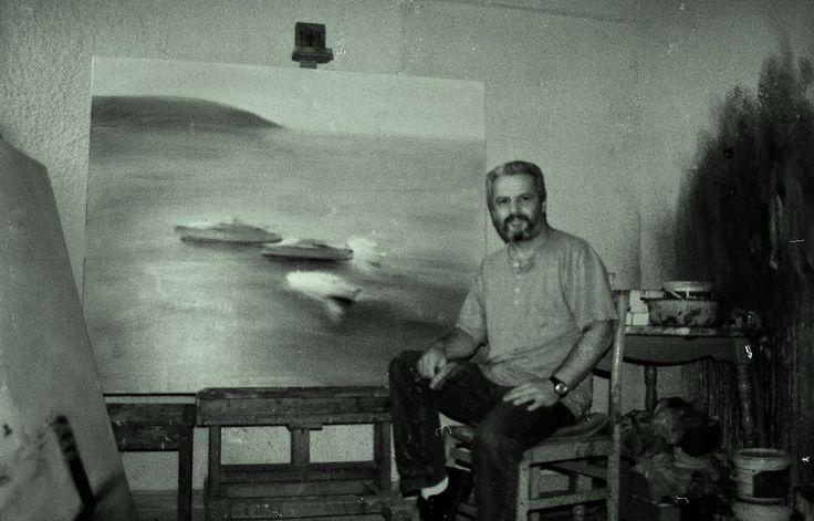 Costas Dais  In His Studio  - In Larissa - Greece
