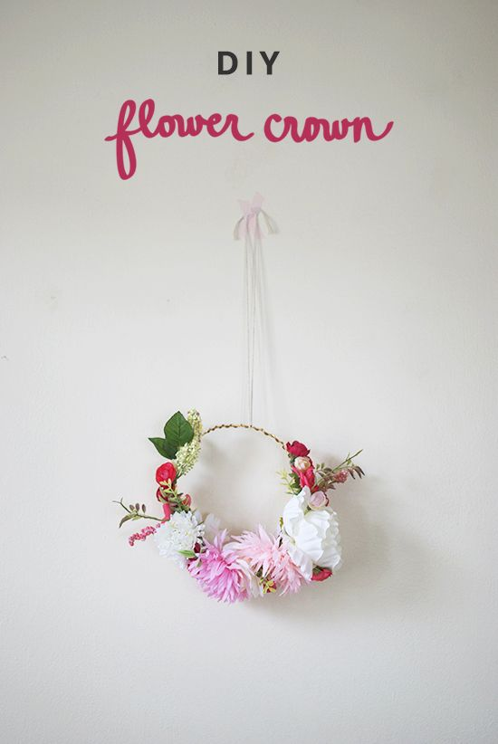 DIY flower crown | Inspired to Share.  I think River needs something like this.