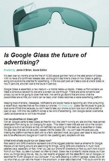 4a888dd2e87 Is Google Glass the future of advertising   InsideSocial
