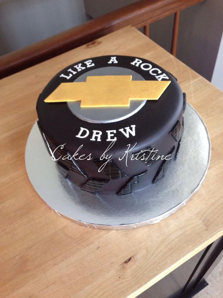 Chevy Truck Tire cake