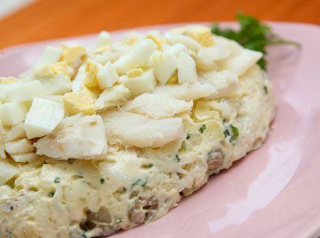 Maionese de Bacalhau - Veja mais em: http://www.cybercook.com.br/receita-de-maionese-de-bacalhau.html?codigo=12306
