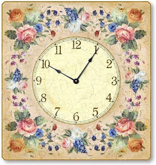 Very cute: Pretty Clocks, Floral Clocks, Decor Artists, C2008 Vintage, Design Clocks, Wall Clocks, Vintage Style, Vintage Clocks Printable, Clocks Faces
