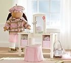 $85.99 Pottery Barn Kids Madeline Mirrored Doll Vanity Stool Molly's American Girl doll