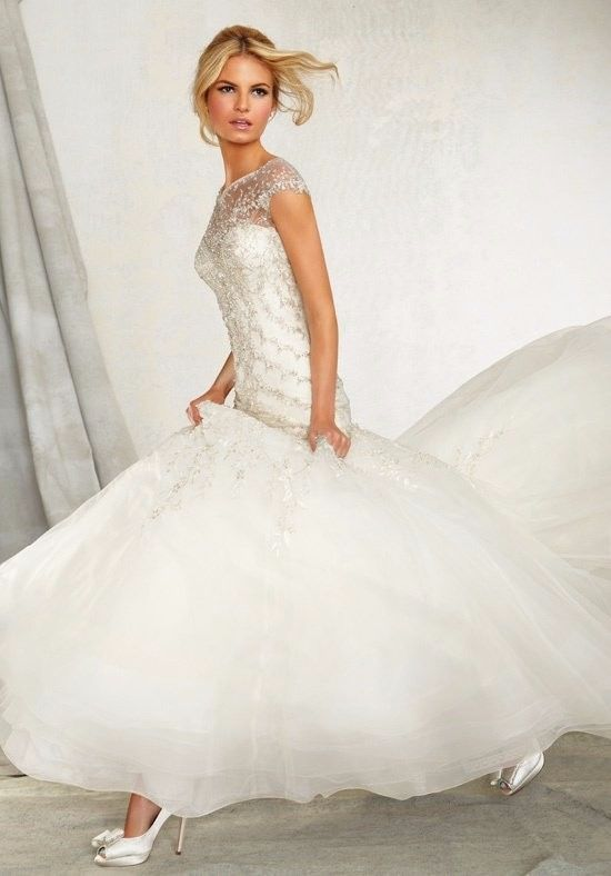 Mori Lee Wedding Gown Style 1261 Brand New Size 14