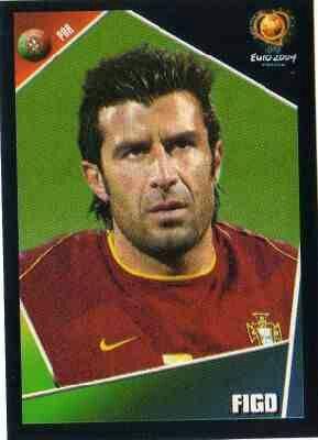 Luis Figo of Portugal. Euro 2004 card.