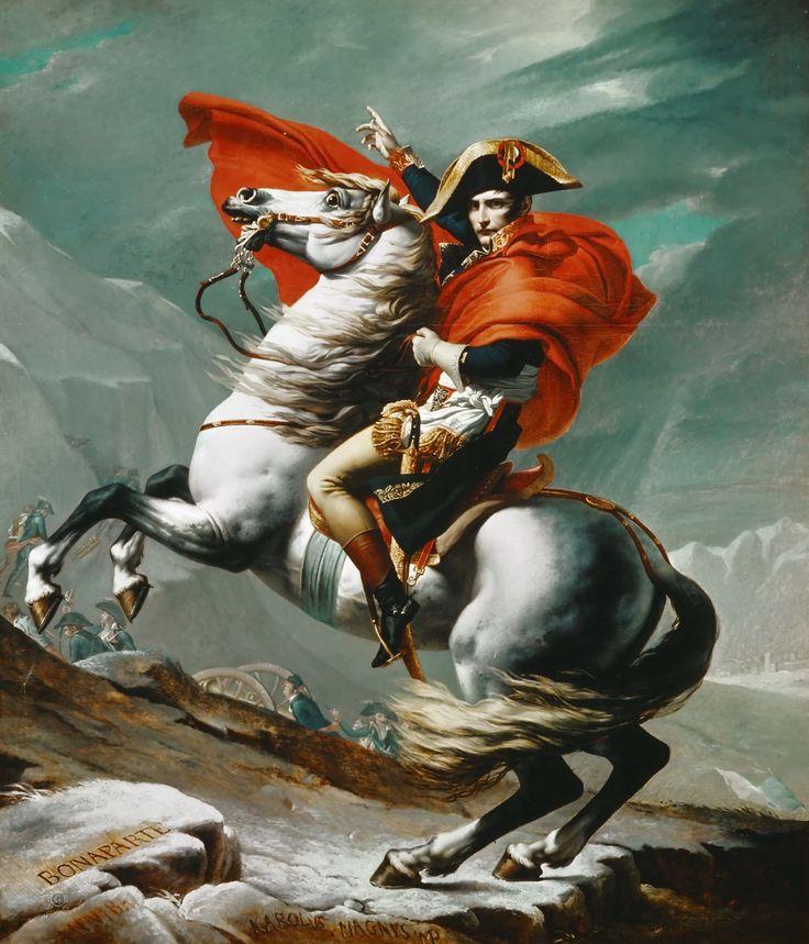 Жак-Луи Давид: Наполеон на перевале Сен-Бернар 20 мая 1800 г.