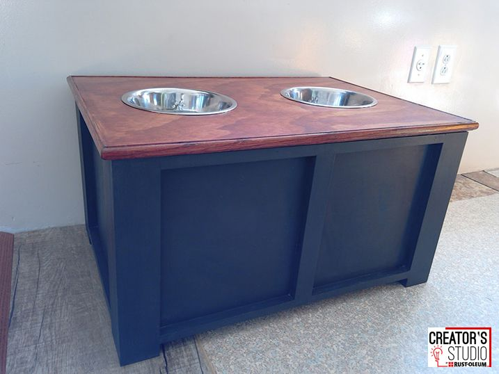 diy dog feeding station how to make a stylish and affordable dog food cabinet for