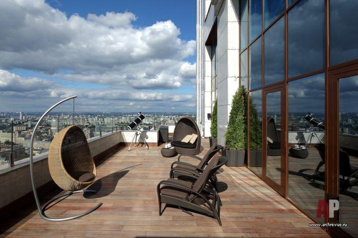 Фото интерьера веранды пентхауса | Дизайн интерьера пентхауса с верандой в стиле минимализм | Interior design penthouse with a terrace in a minimalist style