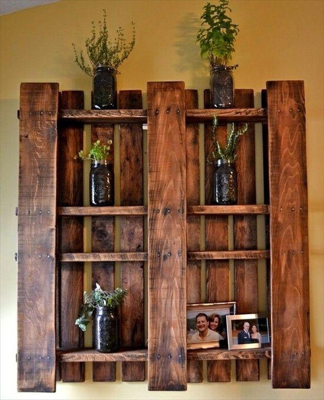 pallet shelves | Ideas for Wooden Pallet Crafts: 8 Pallet Furniture | 101 Pallets