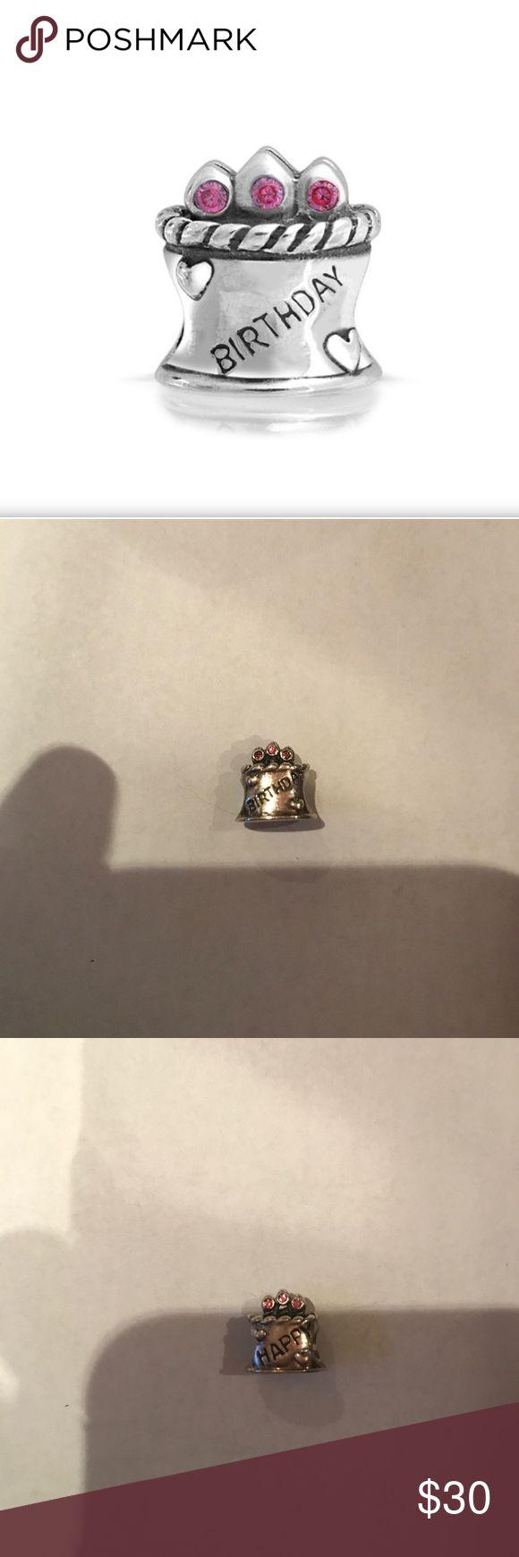 Pandora birthday cake charm Jewels on top are pink Pandora Jewelry Bracelets