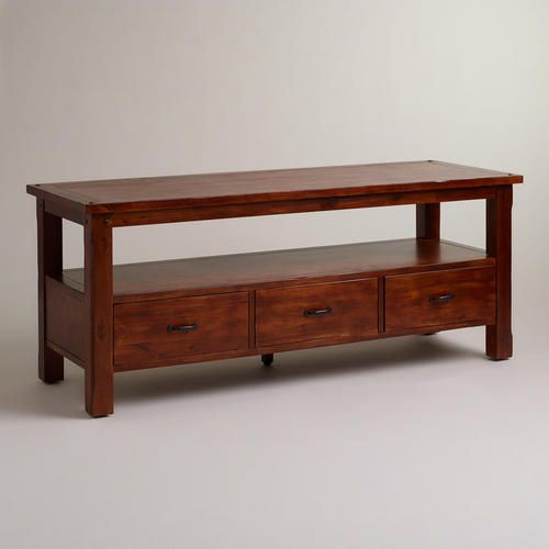 Very classic looking ~ One of my favorite discoveries at WorldMarket.com: Madera Big Media Cabinet