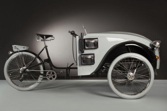 シトロエン2CVとカーゴバイクから制作された「2CV Paris」