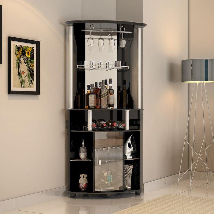 hodedah bar with wine storage wayfair