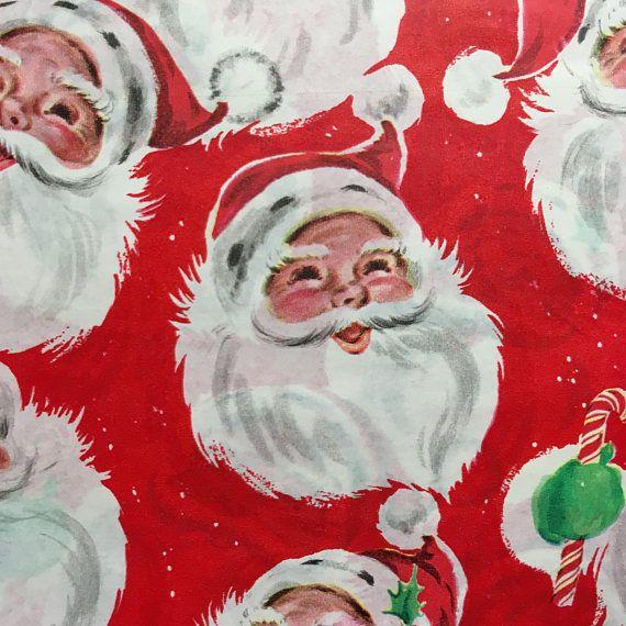 Vintage Wrapping Paper Santa Vintage Santa Wrapping Vintage Wrapping Paper Vintage Christmas Wrapping Paper Vintage Wraps
