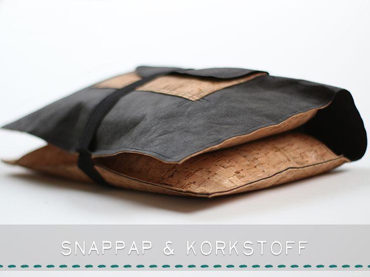Windeltasche aus SnapPap & Korkstoff