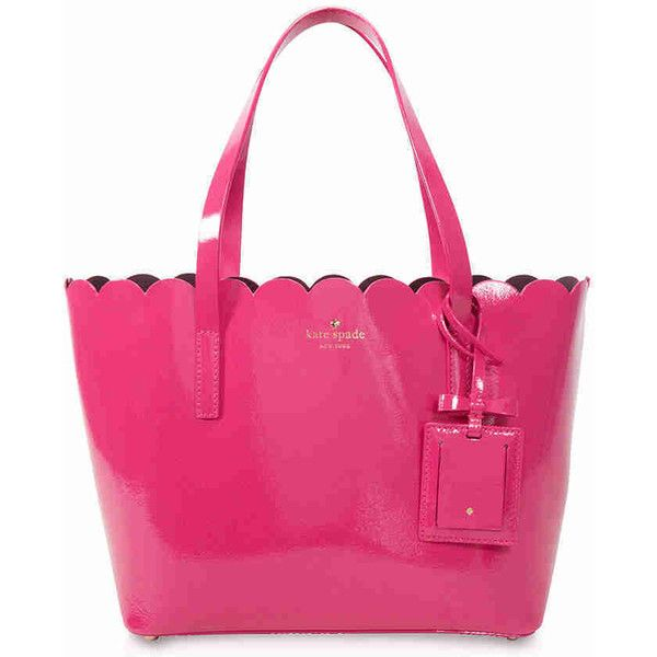 Kate Spade Lily Avenue Patent Leather Small Carrigan Tote - Pink ($173) ❤ liked on Polyvore featuring bags, handbags, tote bags, tote purses, kate spade shoulder bag, kate spade handbag, pink tote bags and kate spade tote