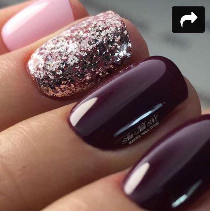 Gelish grape nails
