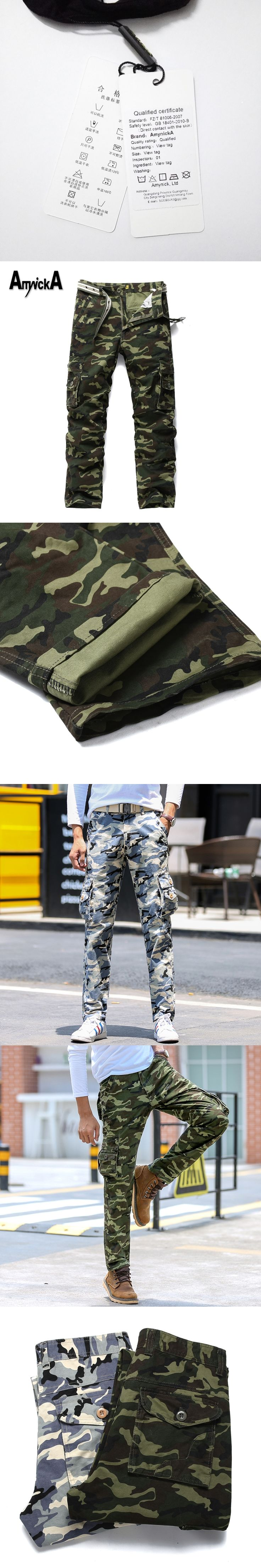 AmynickA Camouflage Pants Mens Militar Tactical Cargo Pants Outdoor Military Pants Army Sport Pants Men Hiking Hunting LDS673