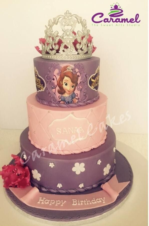 171 Best Sofia The First Cakes Images On Pinterest Birthdays Cake