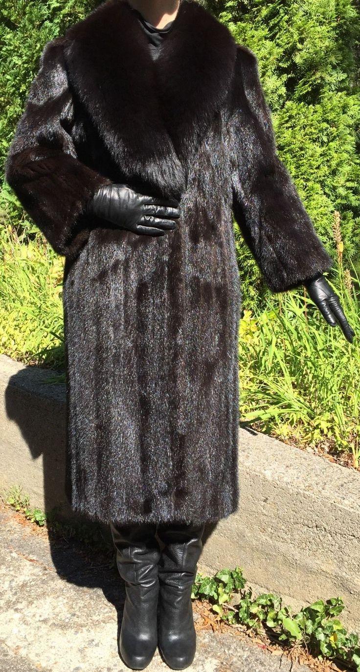 Male gloves ebay - Detalles Acerca De Fabulosa Talla Peque A Macho De Piel De Vis N Negro Brillante Abrigo Largo Midi 3 4 W Cuello De Piel De Zorro Mostrar T Tulo Original