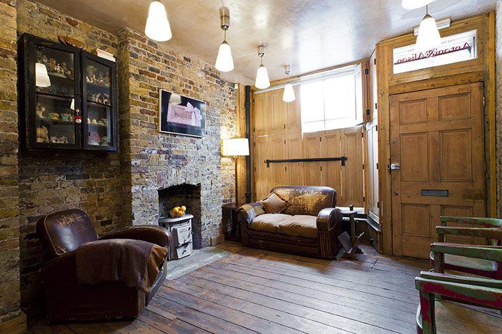 Georgian Yet Cozy House interior with brick walls 2